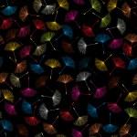Dandelions seed pattern — Stock Photo