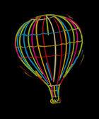 Funky balloon — Stock Vector