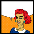 Vector de stock : Pop art woman