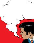 Sigara içen — Stok Vektör