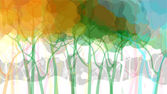 Abstract forest background — Stock Vector