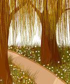ивовые леса фон — Cтоковый вектор