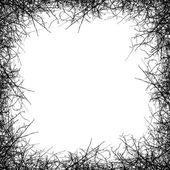 Leafless tree border — Stock Vector