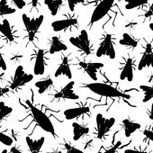 Insect seamless pattern — Stock Vector