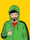 Spacciatore di droga — Vettoriale Stock