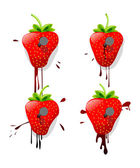 Pinned strawberries — Stock Vector