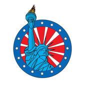 Liberty statue — Stockvektor