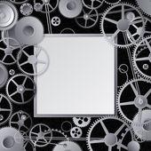 Metallgetriebe design — Stockvektor