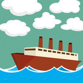 Steam ship — Stock Vector