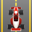 Red racing car — Stock Vector