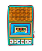 Pop art audio tape recorder — Stock Vector
