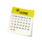 2014 calendar for June. — Stock Vector