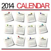 Kalendář 2014 — Stock vektor