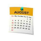 2014 calendar for August. — Stock Vector