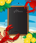 Sea food menu — Vecteur