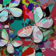Schmetterlinge-abstrakt — Stockvektor