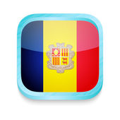 Smart phone button with Andorra flag — Stock Vector