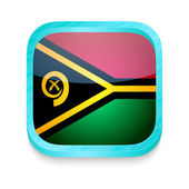 Smart phone button with Vanuatu flag — Stock Vector
