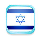 Smart phone button with Israel flag — Stock Vector
