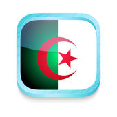 Smart phone button with Algeria flag — Stock Vector