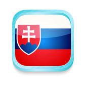 Smart phone button with Slovakia flag — Stock Vector