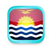 Smart phone button with Kiribati flag — Stock Vector