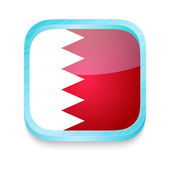 Smart phone button with Bahrain flag — Stock Vector