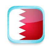 Smart phone button with Bahrain flag — Stock Vector