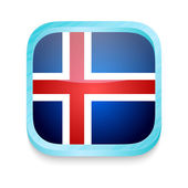 Smart phone button with Iceland flag — Stock Vector