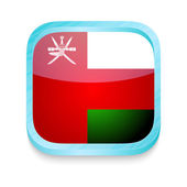 Smart phone button with Oman flag — Stock Vector