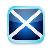 Smart phone button with Scotland flag — Stock Vector