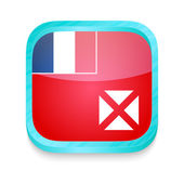 Smart phone button with Wallis and Futuna flag — ストックベクタ