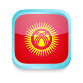 Smart phone button with Kyrgyzstan flag — Stock Vector