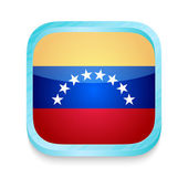 Smart phone button with Venezuela flag — Stock Vector