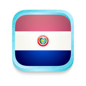 Smart phone button with Paraguay flag — Stock Vector