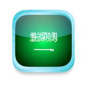 Smart phone button with Saudi Arabia flag — Stock Vector