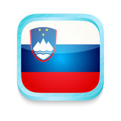 Smart phone button with Slovenia flag — Stock Vector