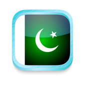 Smart phone button with Pakistan flag — Stock Vector