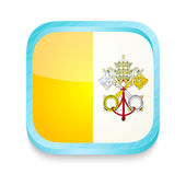 Smart phone button with Vatican flag — Stock Vector