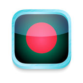 Smart phone button with Bangladesh flag — Stock Vector