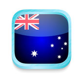 Smart phone button with Australia flag — Stock Vector