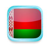 Smart phone button with Belarus flag — Stock Vector