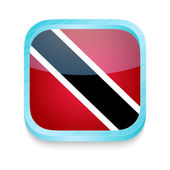 Smart phone button with Trinidad and Tobago flag — Stock Vector