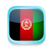 Smart phone button with Afghanistan flag — Stock Vector