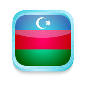 Smart phone button with Azerbaijan flag — Stock Vector