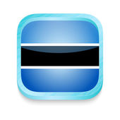 Smart phone button with Botswana flag — Stock Vector