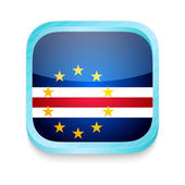 Smart phone button with Cape Verde flag — Vettoriale Stock