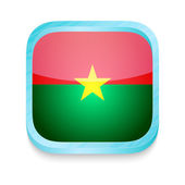 Smart phone button with Burkina Faso flag — Stock Vector