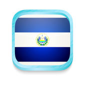 Smart phone button with El Salvador flag — Stock Vector