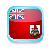 Smart phone button with Bermuda flag — Stock Vector